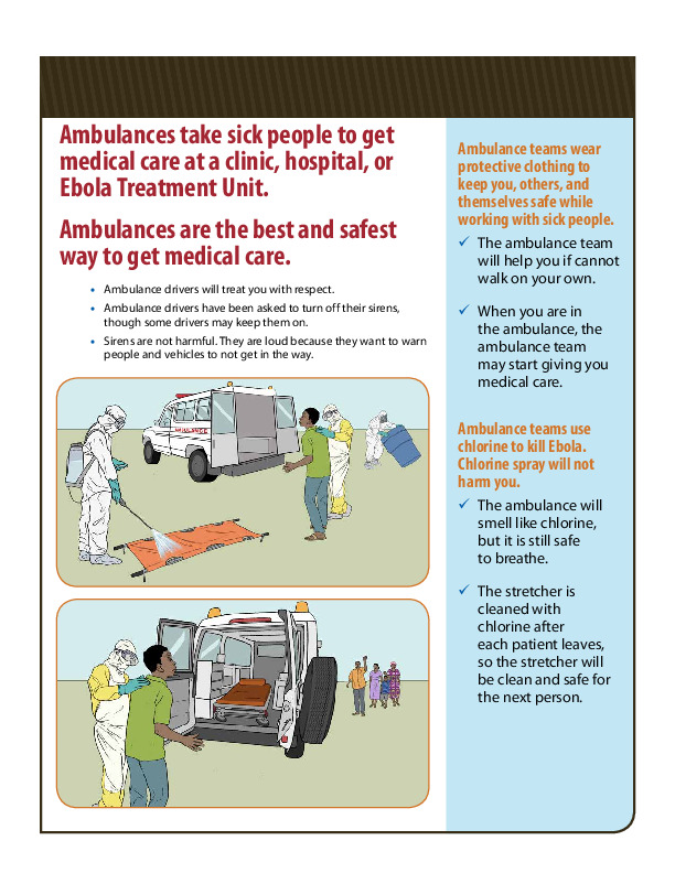Destigmatizing ambulances CDC infographic