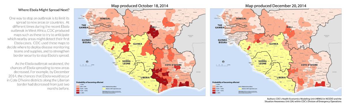 Ebola Spread Map